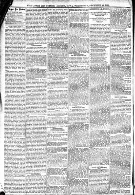 The Algona Upper Des Moines from Algona, Iowa on December 21, 1892 · Page 4