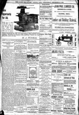 The Algona Upper Des Moines from Algona, Iowa on December 21, 1892 · Page 8