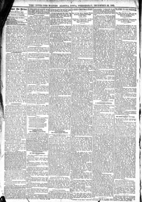 The Algona Upper Des Moines from Algona, Iowa on December 28, 1892 · Page 4