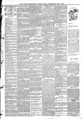 The Algona Upper Des Moines from Algona, Iowa on December 2, 1891 · Page 5