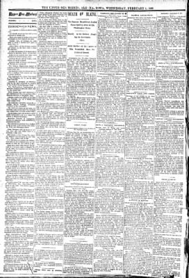 The Algona Upper Des Moines from Algona, Iowa on February 1, 1893 · Page 2
