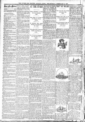 The Algona Upper Des Moines from Algona, Iowa on February 8, 1893 · Page 2