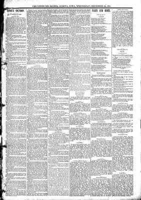 The Algona Upper Des Moines from Algona, Iowa on December 23, 1891 · Page 5