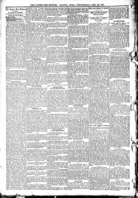 The Algona Upper Des Moines from Algona, Iowa on December 23, 1891 · Page 6