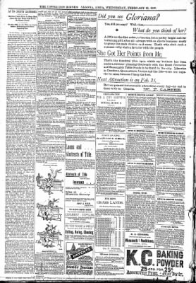 The Algona Upper Des Moines from Algona, Iowa on February 15, 1893 · Page 8