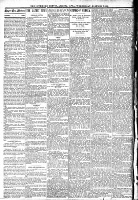 The Algona Upper Des Moines from Algona, Iowa on January 6, 1892 · Page 2