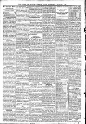The Algona Upper Des Moines from Algona, Iowa on March 1, 1893 · Page 4