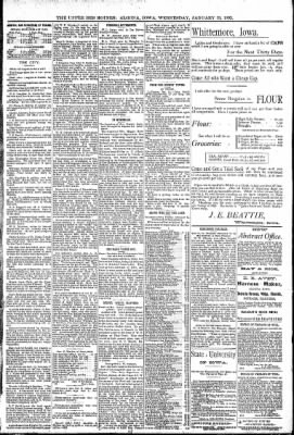 The Algona Upper Des Moines from Algona, Iowa on January 13, 1892 · Page 5
