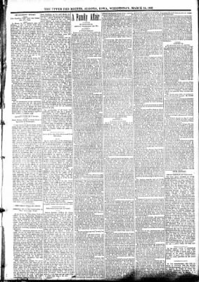 The Algona Upper Des Moines from Algona, Iowa on March 15, 1893 · Page 3