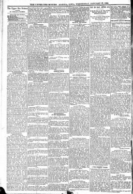 The Algona Upper Des Moines from Algona, Iowa on January 27, 1892 · Page 4