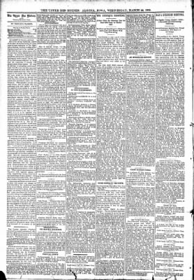 The Algona Upper Des Moines from Algona, Iowa on March 22, 1893 · Page 4