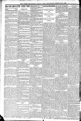 The Algona Upper Des Moines from Algona, Iowa on February 3, 1892 · Page 2