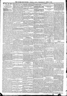 The Algona Upper Des Moines from Algona, Iowa on April 5, 1893 · Page 4