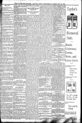 The Algona Upper Des Moines from Algona, Iowa on February 24, 1892 · Page 5