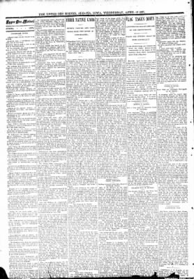 The Algona Upper Des Moines from Algona, Iowa on April 19, 1893 · Page 2