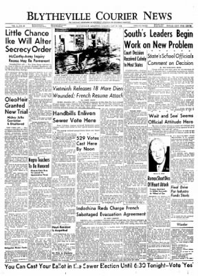 The Courier News from Blytheville, Arkansas on May 18, 1954 · Page 1