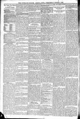 The Algona Upper Des Moines from Algona, Iowa on March 9, 1892 · Page 4
