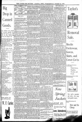 The Algona Upper Des Moines from Algona, Iowa on March 16, 1892 · Page 5