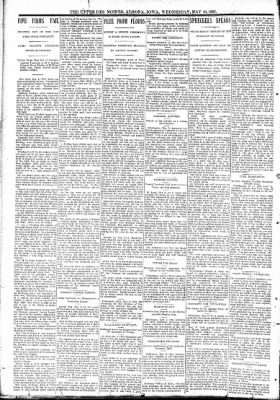 The Algona Upper Des Moines from Algona, Iowa on May 10, 1893 · Page 2