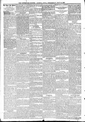 The Algona Upper Des Moines from Algona, Iowa on May 10, 1893 · Page 4