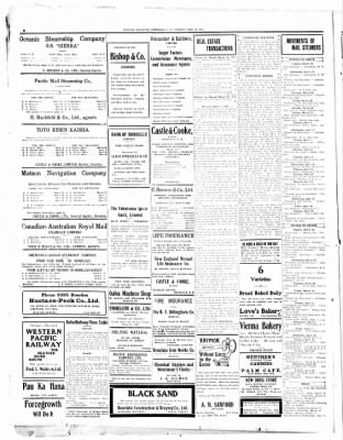 Evening Bulletin From Honolulu Hawaii On March 26 1912 Page 8