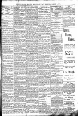 The Algona Upper Des Moines from Algona, Iowa on April 6, 1892 · Page 5