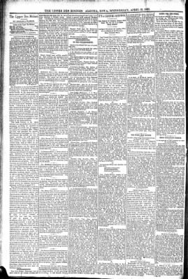 The Algona Upper Des Moines from Algona, Iowa on April 13, 1892 · Page 4