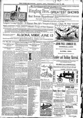 The Algona Upper Des Moines from Algona, Iowa on May 31, 1893 · Page 8