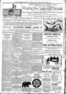 The Algona Upper Des Moines from Algona, Iowa on June 7, 1893 · Page 8