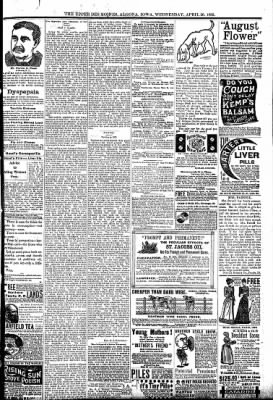 The Algona Upper Des Moines from Algona, Iowa on April 20, 1892 · Page 9