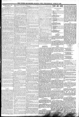 The Algona Upper Des Moines from Algona, Iowa on April 27, 1892 · Page 6