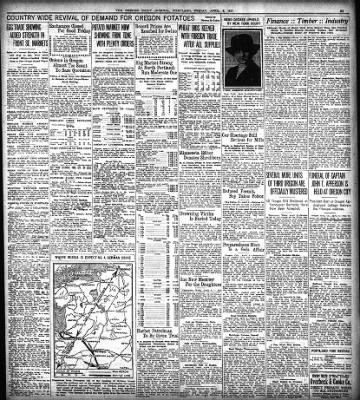 the oregon daily journal from portland oregon on april 6 1917