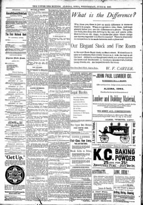 The Algona Upper Des Moines from Algona, Iowa on June 21, 1893 · Page 8