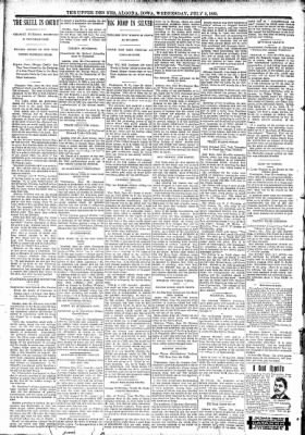 The Algona Upper Des Moines from Algona, Iowa on July 5, 1893 · Page 2