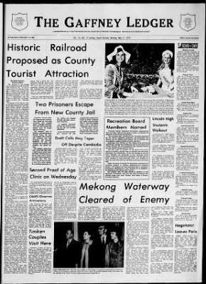 The Gaffney Ledger from Gaffney, South Carolina on May 11, 1970 · Page 1