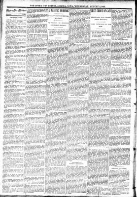 The Algona Upper Des Moines from Algona, Iowa on August 2, 1893 · Page 2