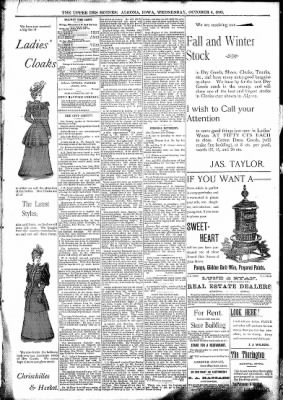 The Algona Upper Des Moines from Algona, Iowa on October 4, 1893 · Page 5