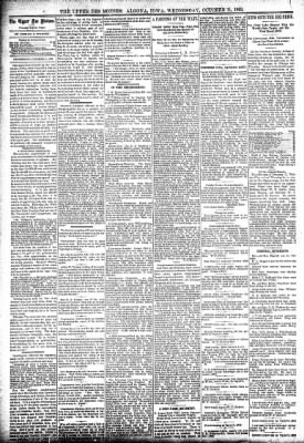 The Algona Upper Des Moines from Algona, Iowa on October 11, 1893 · Page 4