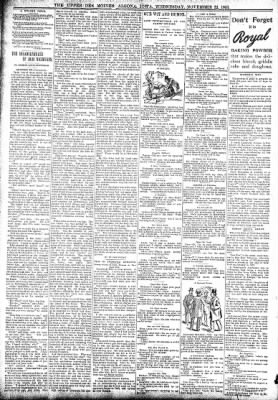 The Algona Upper Des Moines from Algona, Iowa on November 22, 1893 · Page 8