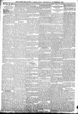 The Algona Upper Des Moines from Algona, Iowa on November 29, 1893 · Page 4