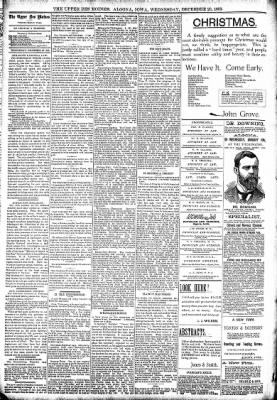 The Algona Upper Des Moines from Algona, Iowa on December 20, 1893 · Page 4