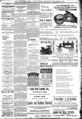The Algona Upper Des Moines from Algona, Iowa on December 27, 1893 · Page 8