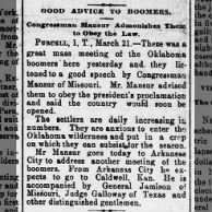 1889, good advice to boomers