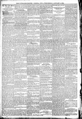 The Algona Upper Des Moines from Algona, Iowa on January 3, 1894 · Page 4