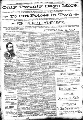 The Algona Upper Des Moines from Algona, Iowa on January 3, 1894 · Page 5