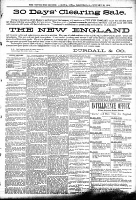 The Algona Upper Des Moines from Algona, Iowa on January 31, 1894 · Page 5