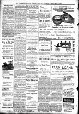 The Algona Upper Des Moines from Algona, Iowa on January 31, 1894 · Page 8
