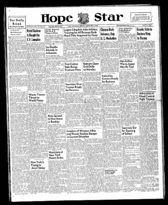Hope Star from Hope, Arkansas on September 2, 1946 · Page 1