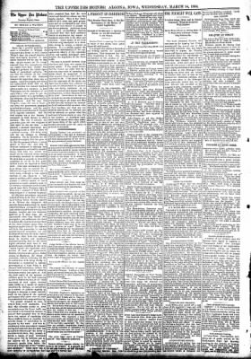 The Algona Upper Des Moines from Algona, Iowa on March 14, 1894 · Page 4