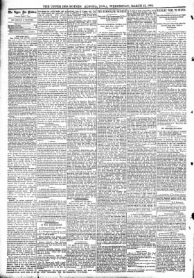 The Algona Upper Des Moines from Algona, Iowa on March 21, 1894 · Page 4